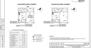 Двухуровневая квартира тип 2-2-2 — 77,47 м2
